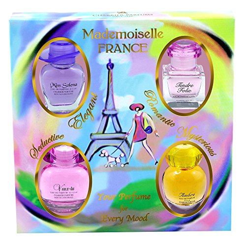 Charrier Parfums - Coffret 4 Parfums Charrier 'Mademoiselle France' 44,1 ml