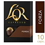 L'OR Espresso Forza Intensity 9, Nespresso Compatible Aluminium Coffee Capsules, 10 capsules (Pack of 1)