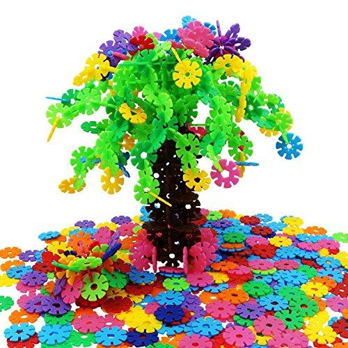Preisvergleich Produktbild EMIDO Spielzeug Bausteine 500 Stück Interlocking Plastic Disc Set Lernspielzeug Gehirn Flakes - Foster Kinder Kreativität, Fantasie, Farberkennung und Teamwork, Kleinkinder ab 3 Jahre