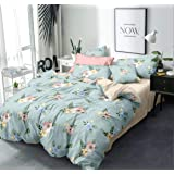 Home Designs Glace Cotton Double Bed Duvet Cover Set- (Size – 90x100 INCHES) Color-5