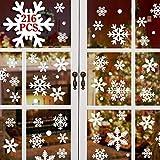 heekpek 216 Stk Schneeflocken Selbstklebend Fensterschmuck Weihnachten Schneeflocke Weihnachtsdeko Fenstertattoo Wandtattoo Weihnachten Deko Weiss - wiederverwendbar PVC Aufkleber Winter Dekoration