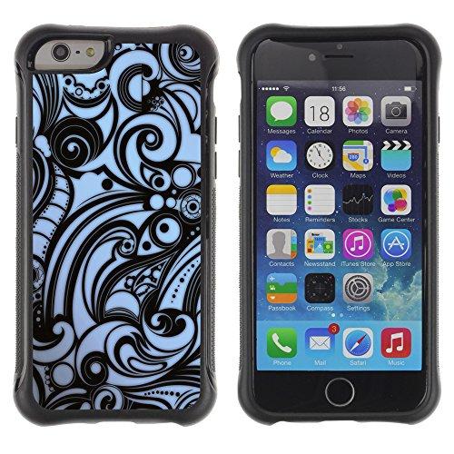 Graphic4You Audio Cassette Tapes Muster Design Shockproof Anti-Rutsch Weichen Hülle Case Tasche Schutzhülle für Apple iPhone 6 Plus / 6S Plus Design #12