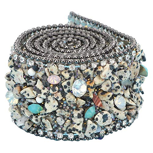 KEYREN Crystal Strass Iron On Banding Cuentas Apliques