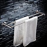 FKTowel rack Handtuchhalter Badezimmer Handtuchstange 304 Edelstahl gebürstet Doppel Handtuchhalter Wandhalterung Handtuchhalter (größe : 80cm)