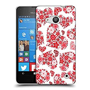 Snoogg Floral Hearts Holiday Designer Protective Phone Back Case Cover For Nokia Lumia 550