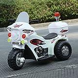 KinshopS Kinder Elektroauto Motorrad Elektro Kindermotorrad Kinderauto Elektrofahrzeug mit Hellen Frontscheinwerfer Musical und Horn Sound-Effekt (Weiß)
