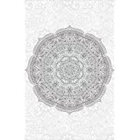 Fine Décor Wallpops wpk2181paraíso para colorear Mandala Pared Arte Decal–blanco/blanco