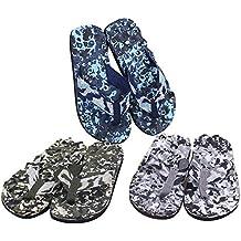 WOZOW Hombres Verano Camuflaje Chanclas Zapatos Sandalias Zapatillas de Interior y al Aire Libre
