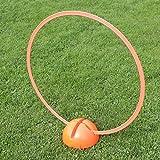 Bild: KombiXFuß mit KombiRing 70 cm in 4 Farben für Agility  Hundetraining orange