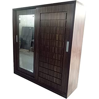LAXMI FURNISHUERS Hometown Wood with Mirror 3 Door Wardrobe  Brown