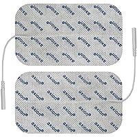 Électrodes pour électrostimulation TENS EMS - 2 electrodes 12 x 7 cm - pads patch pour électrostimulateurs TENS et EMS avec connexion à fil 2 mm