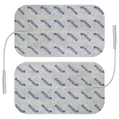 2 Stück Elektroden/Pads 120x70mm gross, für TENS - EMS - Reizstromgerät mit 2mm-Anschluss. -
