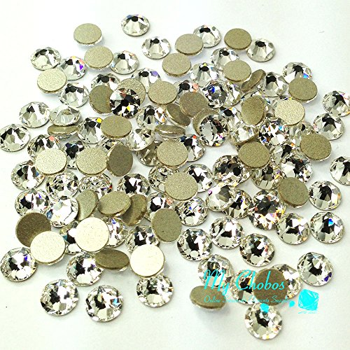 1440 pcs (Factory Pack) Crystal (001) clear Swarovski 2058 Xilion / NEW 2088 Xirius nail art 16ss Flat backs Rhinestones 4mm ss16 **FREE Shipping from Mychobos (Crystal-Wholesale)** by Crystal-Wholesale -