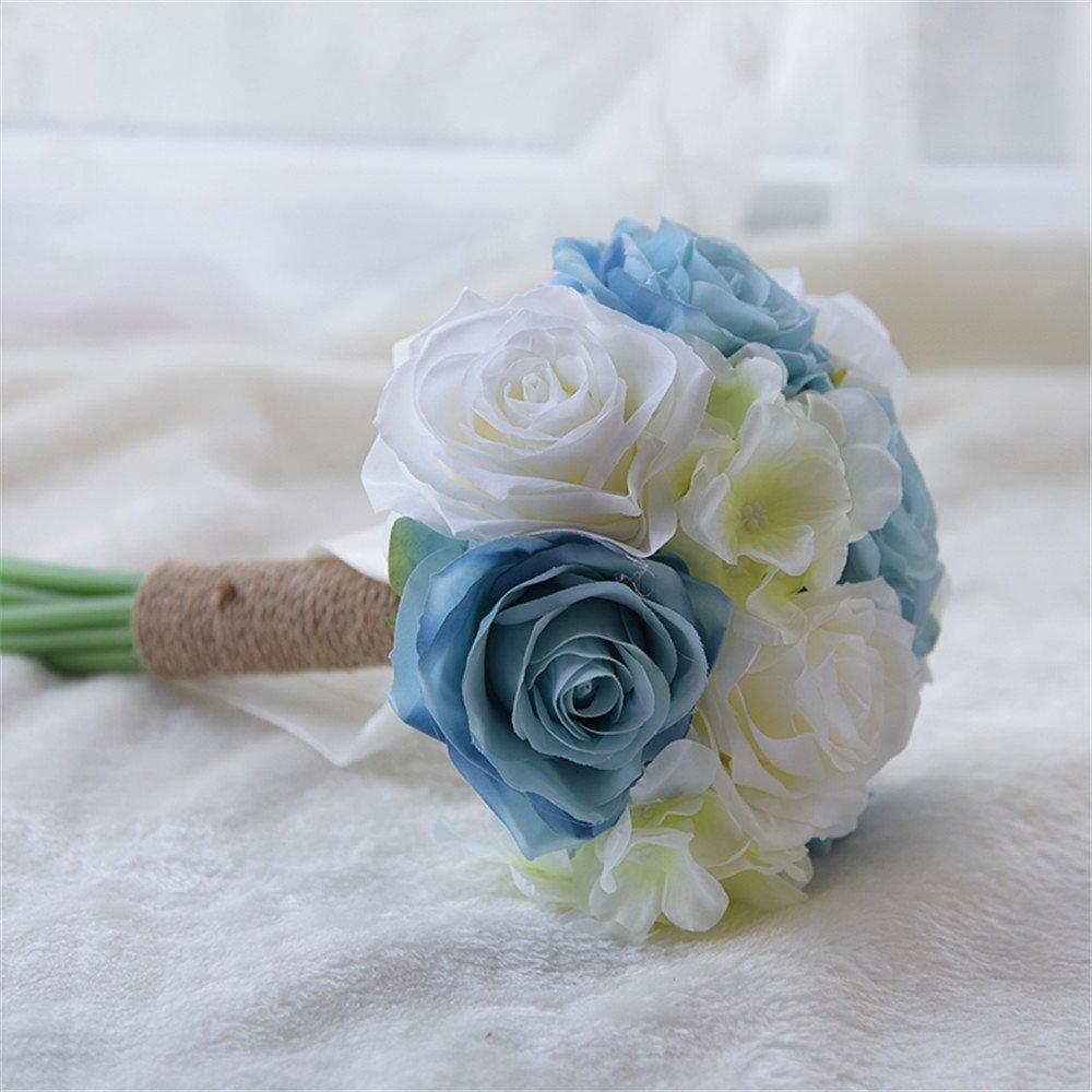 Fouriding Ramo de Novia Ramo de Dama de Honor de Boda de Flores Ramo de Flores Artificiales de Niño de Honor