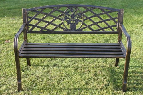 metal-garden-bench-with-floral-pattern-insert-complete-with-cushion-worth-2299-when-buying-from-oliv