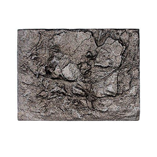 Muamaly Hintergrunddekor für Aquarien, 3D Schaum Rock Reptil Stein Aquarium Hintergrund Aquarium Tafel Dekor (E)