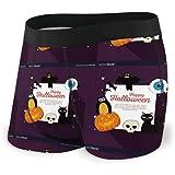GLGFashion Men's Breathable Underwear Happy Halloween Celebration Set Icons Comfortable Boxer Briefs