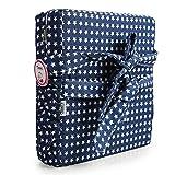 Zicac Sitzerhöhung Sterne Muster Tragbare Sitzerhöhung mit Seitentasche für Kinder Seat Pad (Quadra, Blau Sterne)