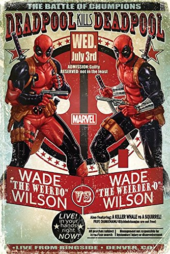 "Deadpool ""Wade vs Wade"" Maxi Poster, multicolore"