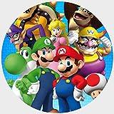 Tortenaufleger Tortenfoto Aufleger Foto Bild Super Mario Bros rund ca. 20 cm (15) *NEU*OVP*