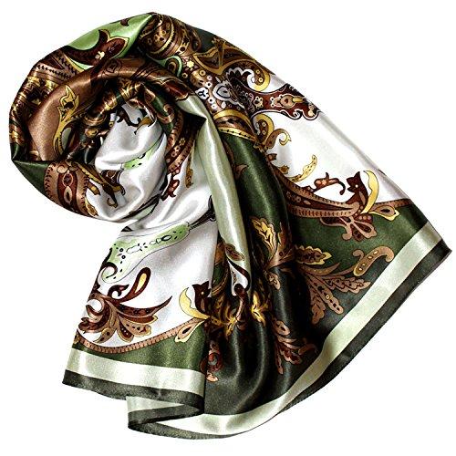 100% Seide Blazer (LORENZO CANA Luxus Seidentuch aufwändig bedruckt Tuch 100% Seide 90 x 90 cm harmonische Farben Damentuch Schaltuch)