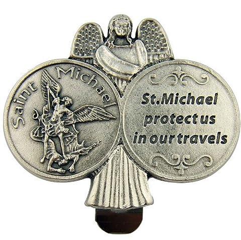 St. Michael Car Visor Plaque 6cm x 5cm. Saint Michael Plaque. St Michael the Archangel. St Michael Medal. Saint Michael Gift. Saint Michael Protect Us. Guardian Angel Plaque. Guardian Angel Car