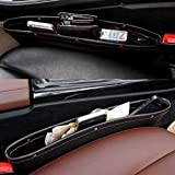 PRO365® 2 Pack Leather PU Front Side Seat Mobile/Accessories/Gums/Keys/Parking Tickets Storage Organizer Seat Gap (2…
