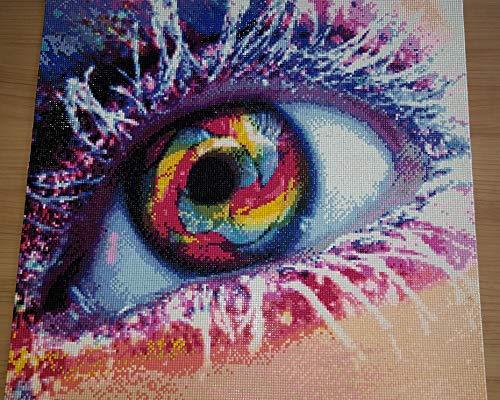 Diamond Painting Bild Auge (fertig gelegt) 50x 50 cm