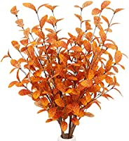 VGIA 6 Pcs Artificial Eucalyptus Stems Fall Eucalyptus Leaves Fall Decorations with Fall Leaves for Office and