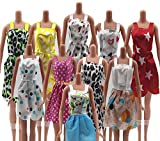 #8: P S Retail Fashion Dress Compatible With Barbie Doll - (Size: 14Cm Approx, Random Pick 12 Dresses/Set)