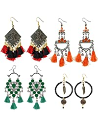Aradhya Fashion Earrings COMBO Deal Set Of 4 Earrings For Women And Girls