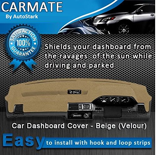 AutoStark Carmate Velour Imported Fabric Car Dashboard Cover Beige for Tata Sumo Victa