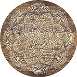 Cuadros Lifestyle 2D-Wandobjekt aus Holz   Mandala   Zeichen   Floral   Wandteller   Holzbild   Shabby-Look   Landhaus   Vintage   Holzobjekt   Deko   Holzdruck   Geschenk, Größe:ca. 30x30cm