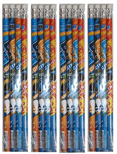Starpak Mattel 34832Hot Wheels Juego de Obsequios 16Piezas lapiceros con Goma de borrar