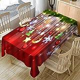 LCLrute Santa Claus Jahr Weihnachten Weihnachten Tischdecke Für Küche Esstisch Dekorationen Home Party Tisch Covers Weihnachten Akkuschrauber (B, 150X300cm)
