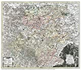 Historische Karte: Land Thüringen 1740 (Plano) - Tobias Conrad Lotter, Matthäus Seutter