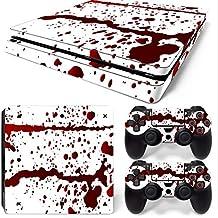 Mcbazel Etiquetas de la serie de vinilo Pegatina de piel de vinilo para PS4 Slim(sangre)