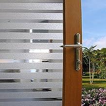 I.Sunny Finestra Pellicola Privacy Autoadesiva Decorativo per Ufficio Bagno,1.5Ft X