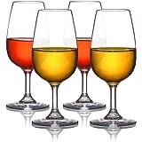 MICHLEY Unzerbrechlich Tritan-Kunststoff weinglaeser, rotwein trinkglas, gläser fur Camping Party, BPA-frei 230 ml plastik Tasse 4er set