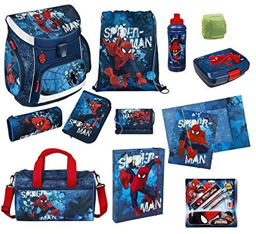 Spiderman Schulranzen Set 19tlg Scooli Campus Up mit Sporttasche Federmappe gefüllt SPON8252-GR