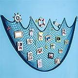 Dremisland Foto hängende Bilderrahmen Collage Fotorahmen Fotogalerie Bildergalerie Fotocollage mit 40 kleinen Holzklammern (blau)