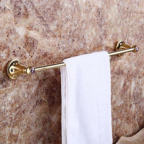 QPLA@Diamant gold Antik europäischer Prägung einzelner Handtuch Kupferstangen , Golden