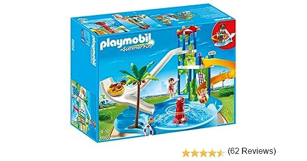 Playmobil    Parc Aquatique Avec Toboggans Gants AmazonFr
