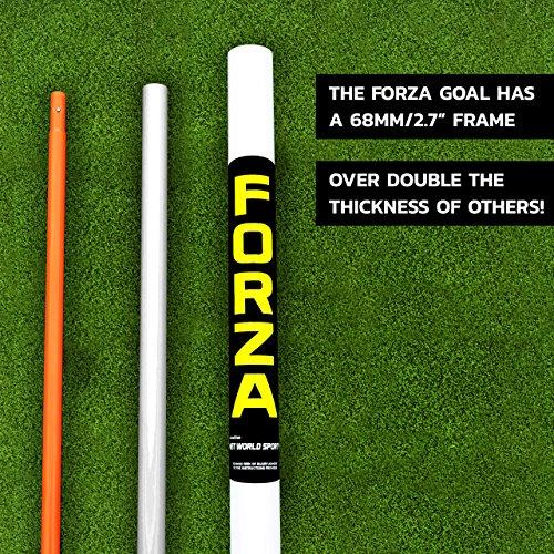 Net World Sports FORZA Match Football Goal - 16ft x 7ft uPVC Junior Matchday Football Goal