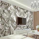 BZDHWWH Moderne Malerei Für Hintergrundfotografie Hd Blumen Geprägte 3D Visuelle Effekte Hotel Badzimmer Wandbild Tapete Wandbild,200cm (H) x 300cm (W)