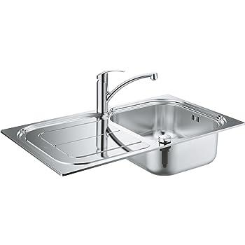 GROHE K300   Küche - Set aus Spüle und Küchenarmatur Eurosmart ...