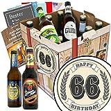 66 Zahl Klassik | Bier Geschenk Set | Deutsches Bier | 66 Zahl Klassik | Bierset | 66 Geschenke zum 66 Geburtstag | INKL Geschenkkarten, Bier Bewertungsbogen, Bierbuch