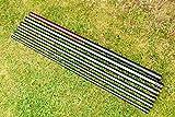 DEKOVALENZ - GFK-Teleskopstange verschiedene Längen, Fahnenmast für Balifahnen, Länge:3 Meter