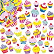 Cupcake Foam Stickers for Children to Decorate and Embellish Cards Collages Scrapbooking & Other Crafts Projects (Pack of 120)