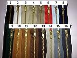 FIM Jeans Reißverschluss Nr.5 Metall Gold, Reißverschlüsse für Jeans und Hosen 8cm - 20cm, verschiedene Farben, 1 - schwarz (322), 10cm